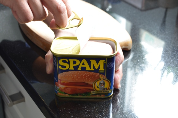 opening a can of spam
