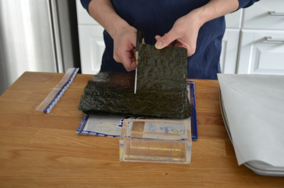 cutting down the nori
