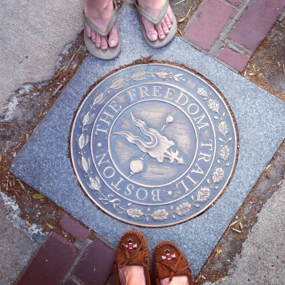 shoes on freedom trail