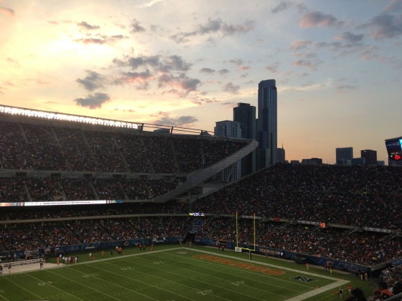 Soldier Field skyline view