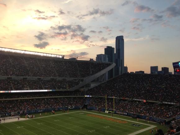 Soldier Field skyline view