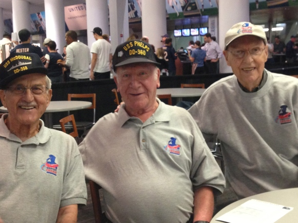 Honor Flight Chicago World War II veterans at Bears Game