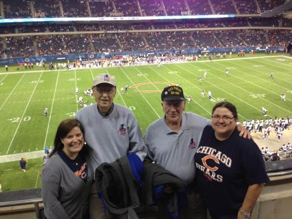 Honor Flight Chicago Bears Game