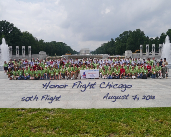 Honor Flight Chicago 50th flight