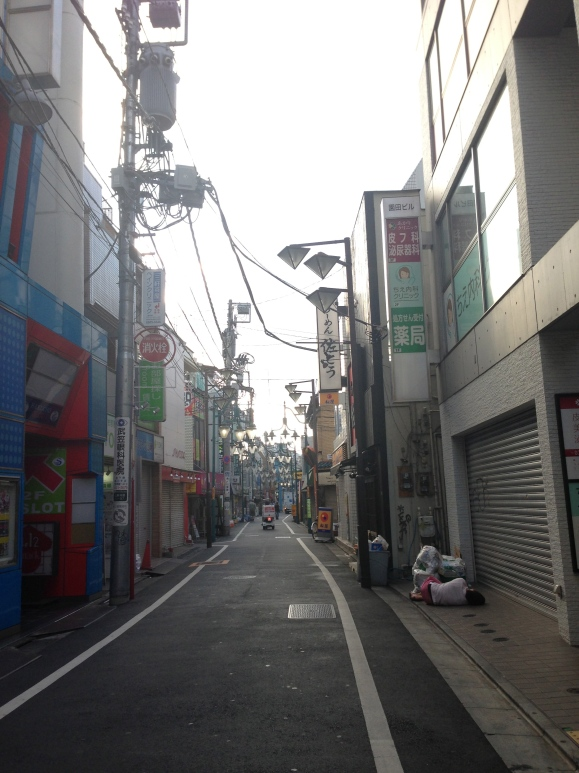 early morning streets of Tokyo