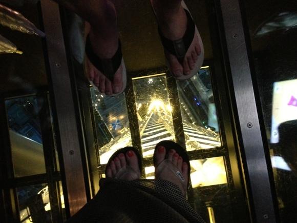 feet in Tokyo Sky Tree