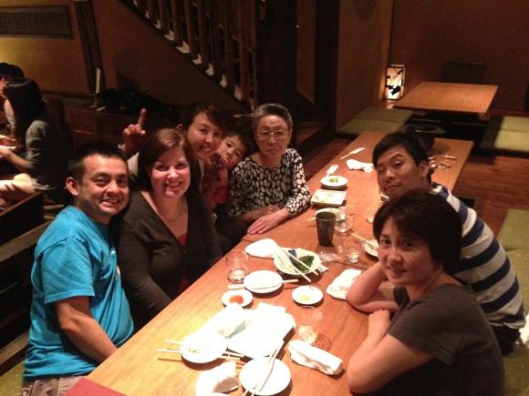 Izakaya family dinner