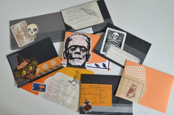 Halloween mail art