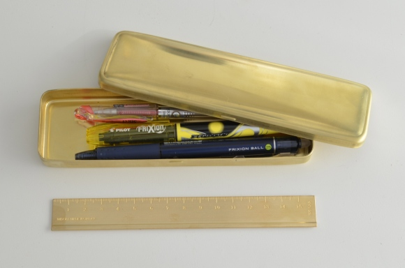 midori brass pen case and ruler