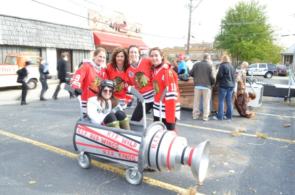 Blackhawks at the Casket Races