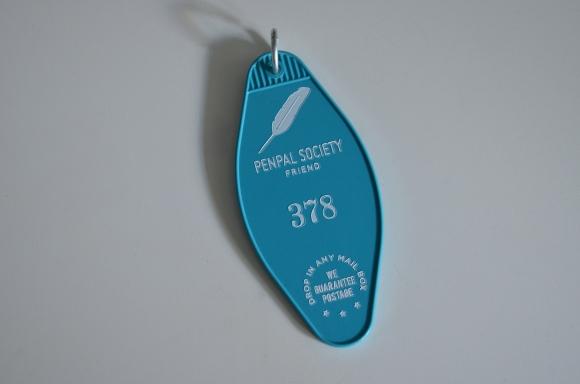3P4 Penpal Society keychain