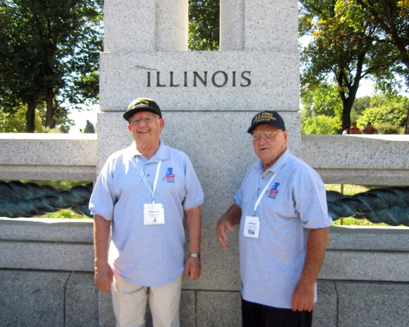 Chester and John at WW2 Memorial