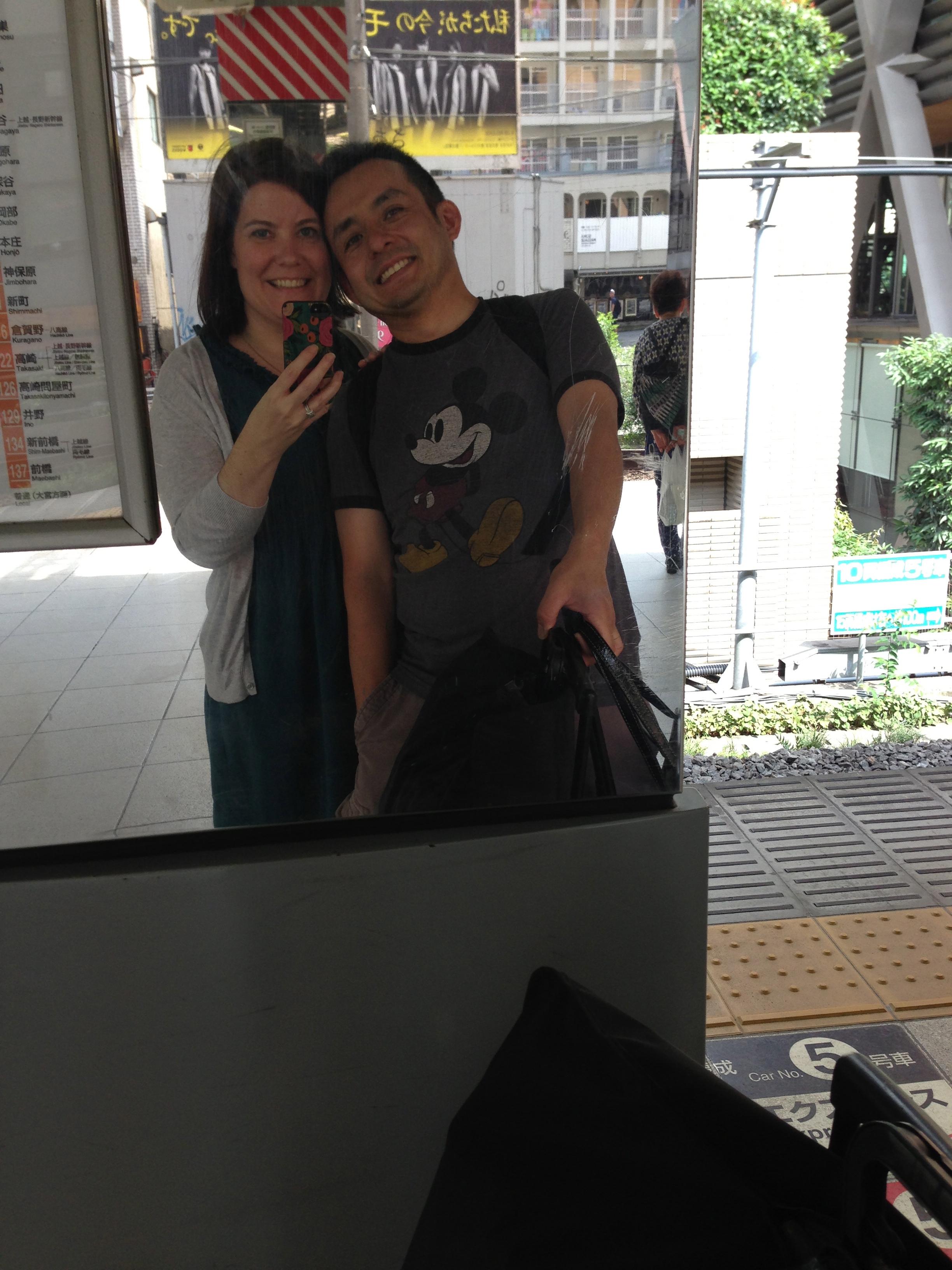 Kimberly and Naoto train station