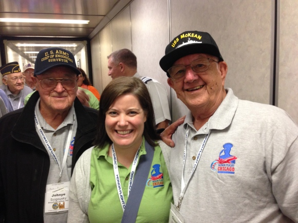 John, Kimberly, Chester Honor Flight Chicago