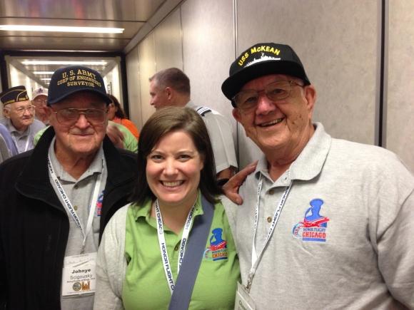 John, Kimberly, Chester Honor Flight Chicago