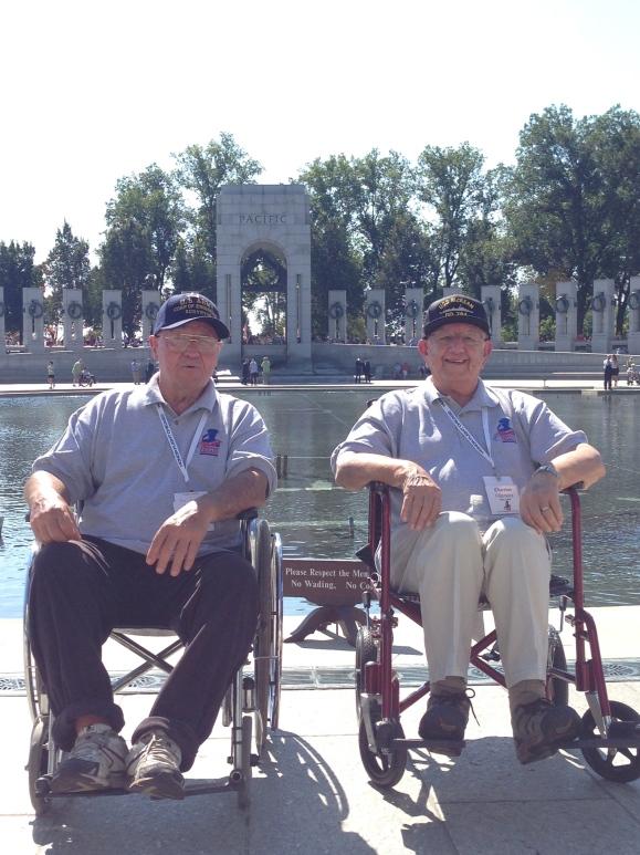 John & Chester Honor Flight Chicago World War 2 Memorial