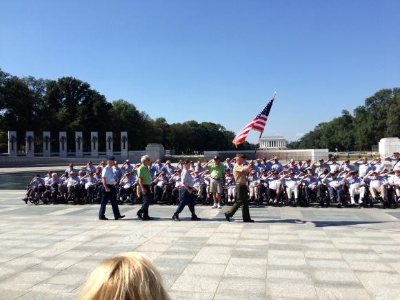 color guard at World War 2 memorial