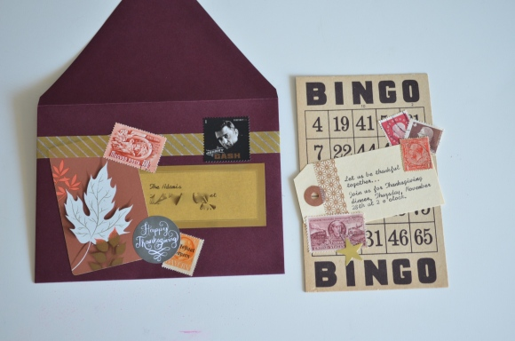 vintage ephemera thanksgiving invitations