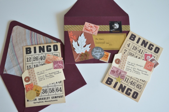 vintage ephemera thanksgiving invitations