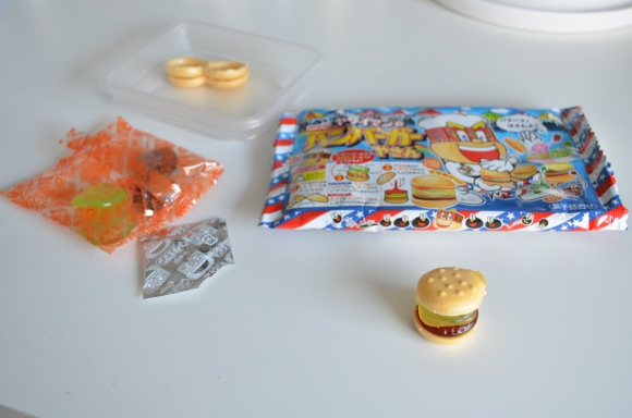 Japanese gummy hamburger