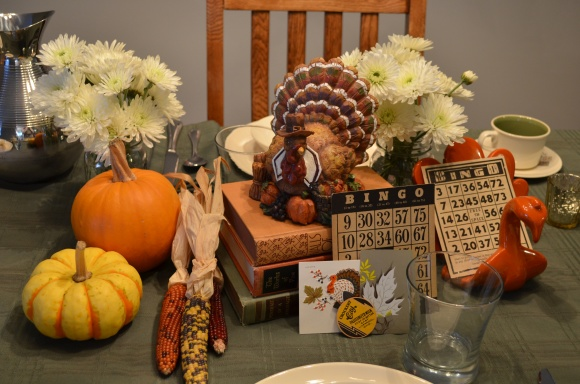 vintage style thanksgiving table