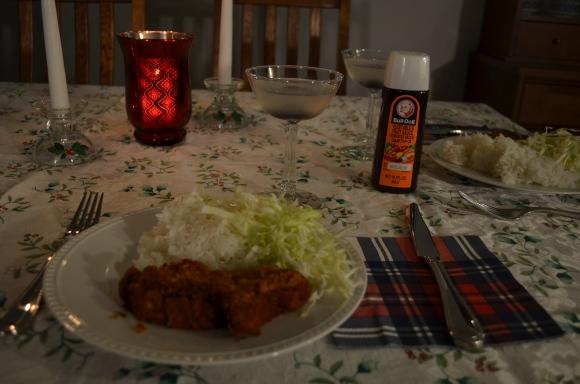Christmas dinner, tonkatsu