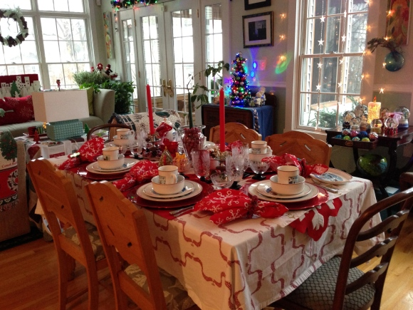 book group Christmas tea