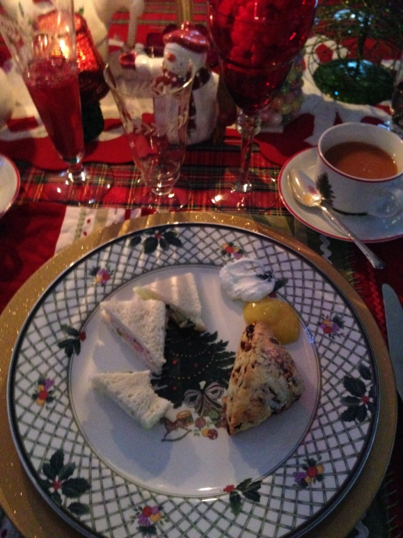 christmas tea sandwiches