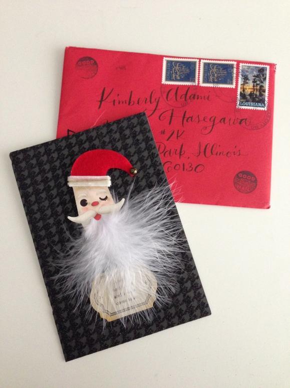 Hallmark Santa pin card