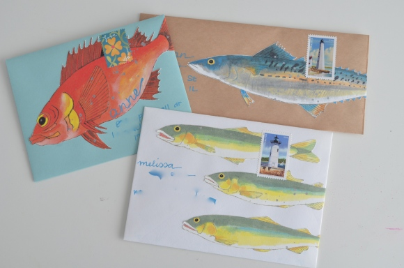 fish mail art