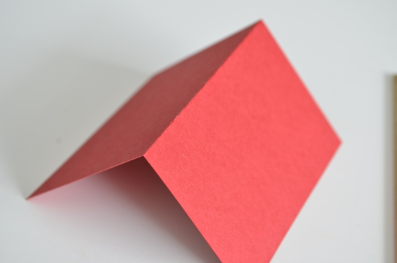 neatly folded cardstock