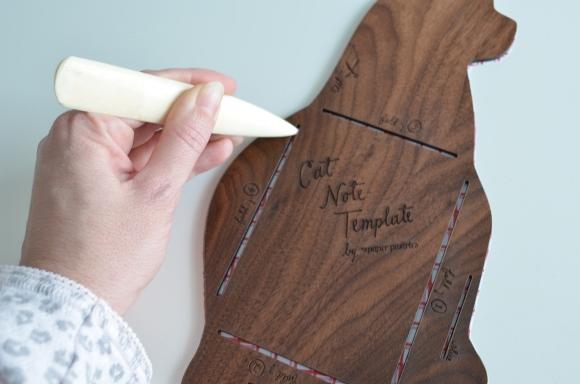 using a bone folder