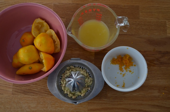 zesting and juicing meyer lemons