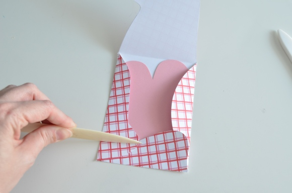 creasing paper with a bone folder