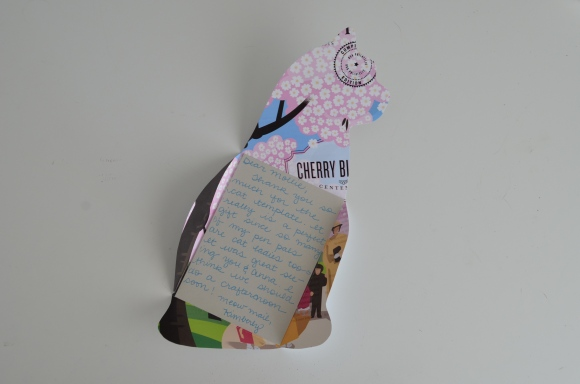 Paper Pastries cat note template