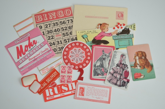 Saturday Morning Vintage January Paper Parcel, my favorites