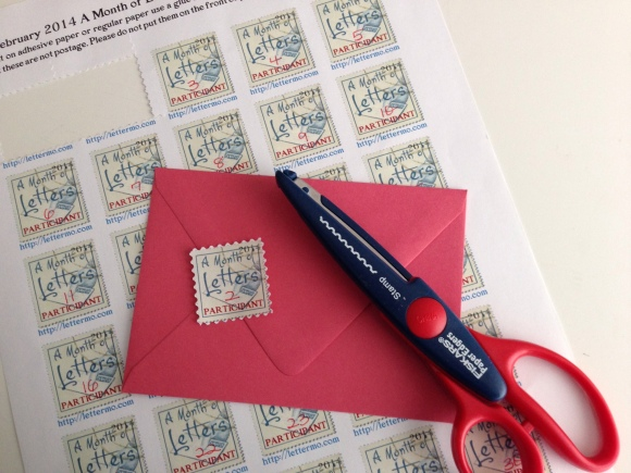 letter month stamp