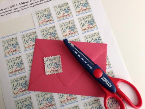 letter month stamp