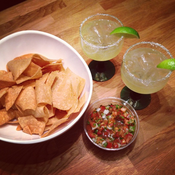 margaritas and chips