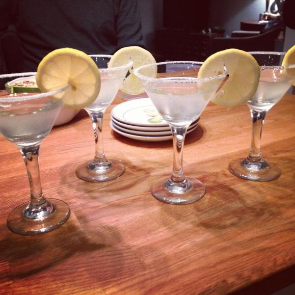 limoncello martinis