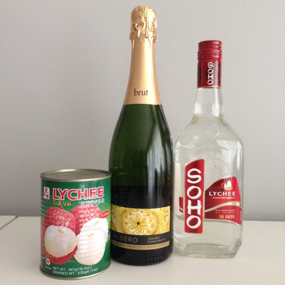 Lychee liqueur and prosecco