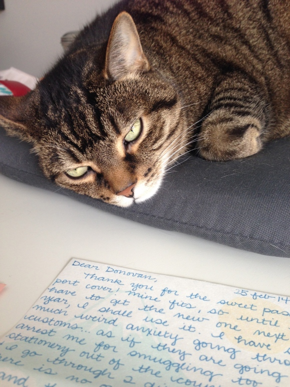 Presley and writing letters