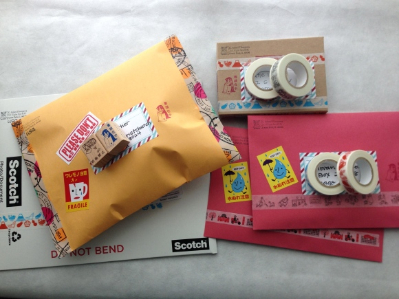 packages with gifts from Japan