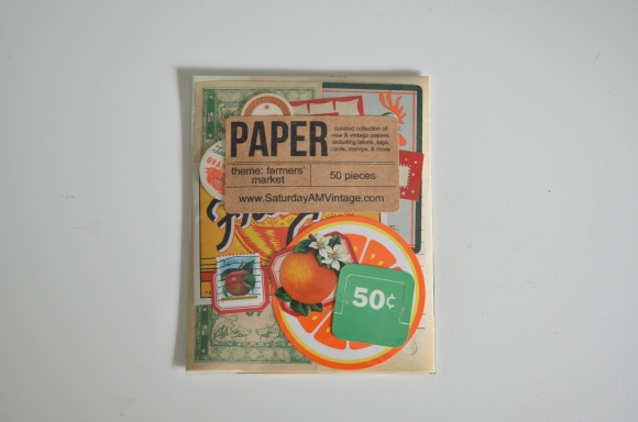 Saturday Morning Vintage Paper Parcel