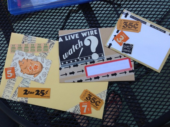mail art on the balcony