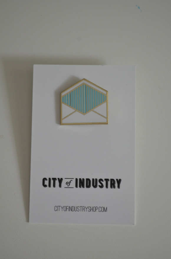 City of Industry envelope pin