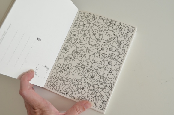inside the Secret Garden postcard book