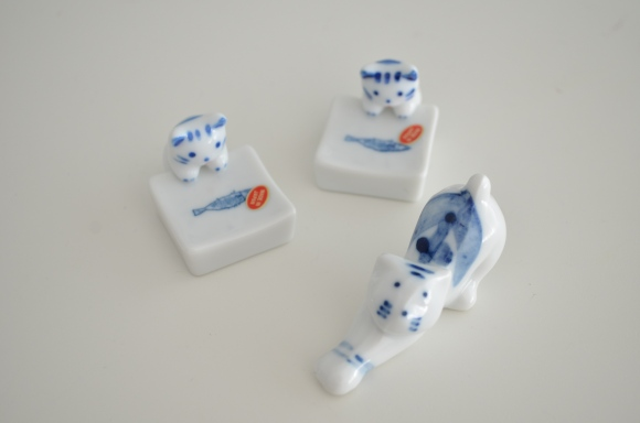 Japanese Cat Chopstick Rests