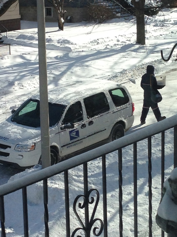 mail delivery during polar vortex, USPS