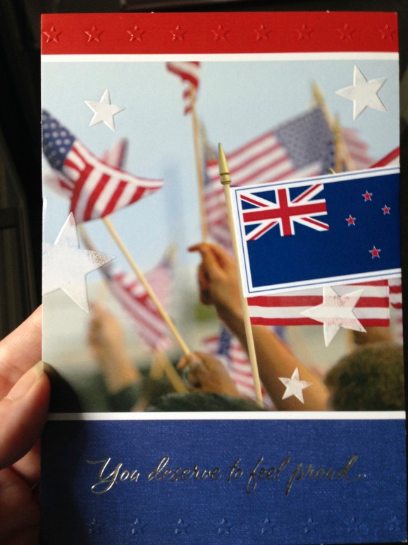 Hallmark citizenship card